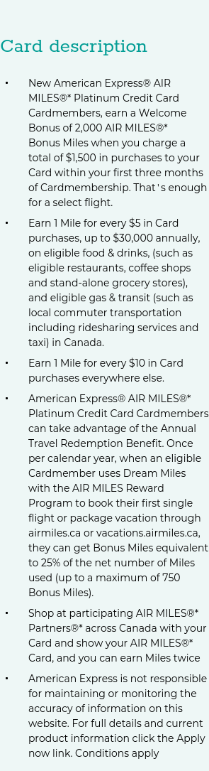 Apply For The American Express Air Miles Platinum Card