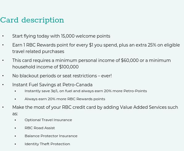 Apply for the RBC Visa Infinite Avion | LowestRates.ca
