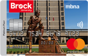 Brock University MBNA Rewards Mastercard® image