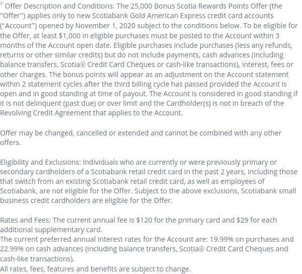 Apply For The Scotiabank Gold American Express Card