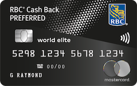 RBC Cash Back Preferred World Elite Mastercard.