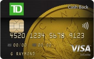 Apply for a td credit card lowestrates td cash back visa infinite card image reheart Images