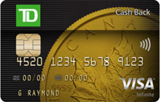 TD Cash Back Visa Infinite Card