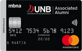 University of New Brunswick MBNA Rewards Mastercard® image