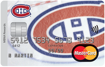 Montreal Canadians® MBNA Rewards Mastercard® image